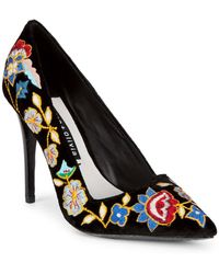 Alice + Olivia - Embroidered Floral Court Shoes - Lyst