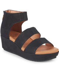 Gentle Souls - By Kenneth Cole Milena Leather Wedge Sandals - Lyst