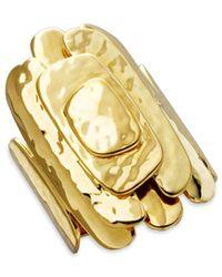 Ippolita - Glamazon 18k Yellow Gold Layered Square Ring - Lyst