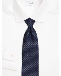 Eton of Sweden - Printed Silk Tie - Lyst