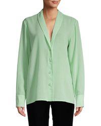 Tibi Long-sleeve Wool Top - Green