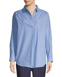 French Connection Striped Collared Shirt - Blue