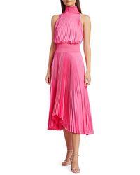 A.L.C. Renzo Pleated Blouson Dress - Multicolour
