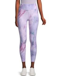 Threads For Thought Jackie Abstract Leggings - Purple