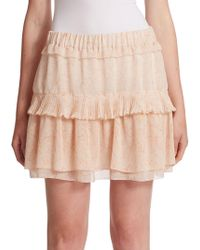 See By Chloé - Pleated Georgette Skirt - Lyst