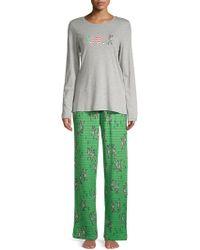 Hue - Two-piece Joy Printed Pyjama Set - Lyst
