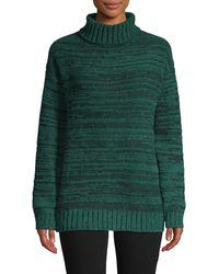 BCBGMAXAZRIA Textured Turtleneck Jumper - Green