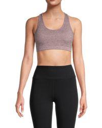X By Gottex Women's Textured Racerback Bra - Plum Heather - Size Xs - Purple