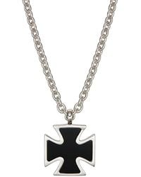 Effy Sterling Silver & Onyx Pendant Necklace - Multicolour