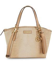 Calvin Klein Snakeskin-embossed Faux Leather Crossbody Bag - Natural