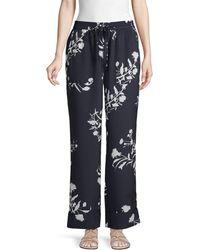 Joie Classic Floral Pants - Blue