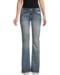 Miss Me Embellished Bootcut Jeans - Blue