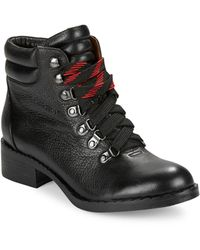 Gentle Souls Leather Mid Top Boots - Black