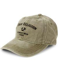 True Religion - Embroidered Cotton Baseball Cap - Lyst