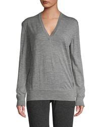 Tomas Maier Heathered Wool Sweater - Gray