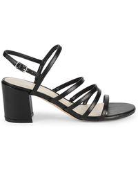 Nine West Unique Faux Leather Slingback Sandals - Natural