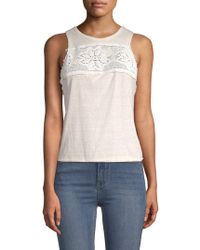 Free People - Window Lace-trimmed Tank Top - Lyst