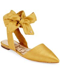 Sam Edelman Brandie Lace-up Flats - Yellow