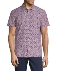 Perry Ellis - Printed Cotton Button-down Shirt - Lyst