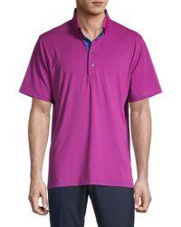 Greyson Men's Sahele Short-sleeve Polo - Dart - Size Xxl - Purple
