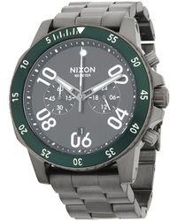 Nixon Distressed Stainless Steel Bracelet Watch - Green