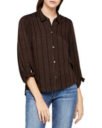 BCBGeneration 80s Sleeve Oversized Button Down - Brown
