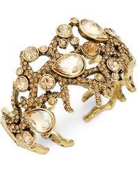 Heidi Daus Goldtone & Crystal Cuffs Bracelet - Multicolour