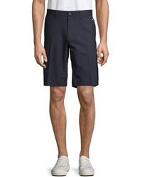 J.Lindeberg Men's Flat-front Shorts - Safari - Size 38 - Blue