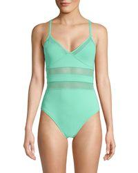 Bleu Rod Beattie Mesh 1-piece Swimsuit - Blue