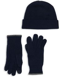 Saks Fifth Avenue - Boxed 2-piece Wool Cashmere Beanie & Gloves Set - Lyst