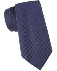 Armani Men's Textured Silk Tie - Blue
