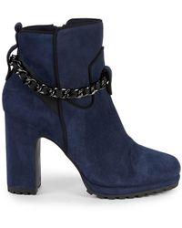 Karl Lagerfeld Lark Chain Bootie - Blue