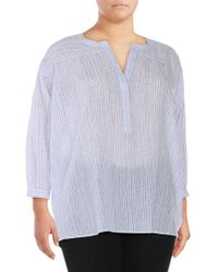 Vince Camuto - Plus Drizzle Three-quarter Top - Lyst