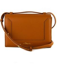 3.1 Phillip Lim Mini Soleil Leather Shoulder Bag - Brown