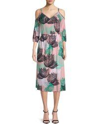 Rachel Pally - Ariana Floral Cold-shoulder Midi Dress - Lyst