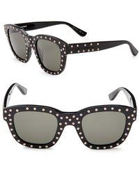 Saint Laurent - 48mm Studded Wayfarer Sunglasses - Lyst