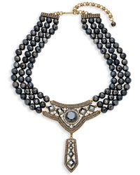 Heidi Daus - Triple-strand Beaded Bib Necklace - Lyst