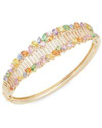Effy - Women's 14k Yellow Gold, Sapphire & Diamond Bangle Bracelet - Lyst