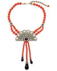 Heidi Daus - Crystal Deco Fan Necklace - Lyst