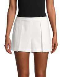 Alice + Olivia Larissa Pleated Shorts - White