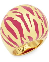 Diane von Furstenberg | Patterned Ring | Lyst