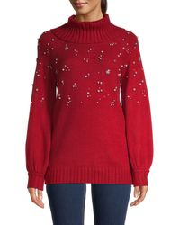Karl Lagerfeld Embellished Sweater - Red
