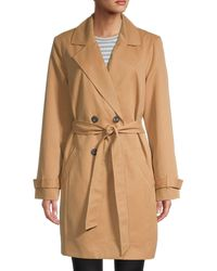 Vero Moda Double-breasted Trench Coat - Brown