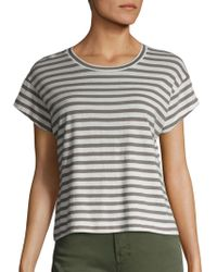 Vince - Striped Crewneck Tee - Lyst