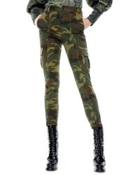 Alice + Olivia Keith Slim-fit Cargo Trousers - Green