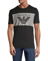 Armani Jeans Banner Logo T-shirt - Black