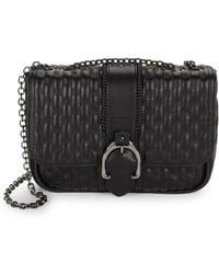 Longchamp Quilted Leather Chain Shoulder Bag - Black