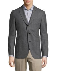 Saks Fifth Avenue Collection Printed Wool Sportcoat - Gray