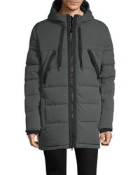 Marc New York Quilted Hooded Jacket - Gray