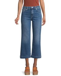 7 For All Mankind Alexa Wide-leg Cropped Jeans - Blue